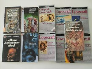 Lot livres de poche Lovecraft Dagon Cthulhu..