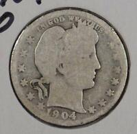 1904-O 25C Barber Quarter About Good Condition
