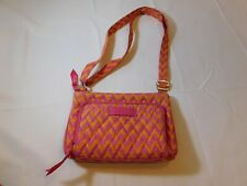 Vera Bradley Retired Crossbody Small handbag purse shoulder bag Orange Pink