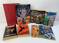 Lot Of 9 Vintage Marvel Books Novels - X-men, Daredevil, Hellboy, Fantastic Four