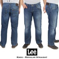 Vintage Lee Knox Mens Low Waist Denim Regular Straight Leg Jeans