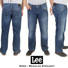 Vintage Lee Knox Mens Low Waist Denim Regular Straight Leg Jeans