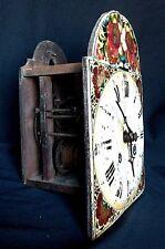 Ancienne Horloge pendule comtoise Bois Foret noire à restaurer XIXème