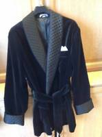 Mens Quilted Velvet Smoking Jacket Robe de Chambre Dinner Party Wear Coat Blazer