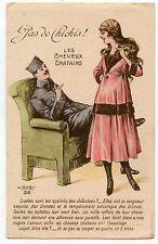 WW1. POILU. Charme patriotique. Patriotic Charm. PAS DE CHICHIS.Cheveux Chatains