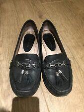 Antonio Melani Black Leather Loafers Comfy Tassle Usa 10 Approx Uk 7 Or 7.5 Used
