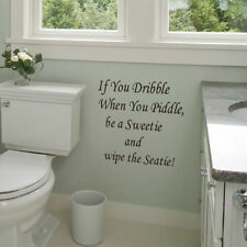 Toilet Seat Wall Sticker bathroom decor quote wall decals removeable wallpaper