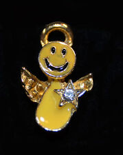 SMILEY FACE ANGEL STAR PIN