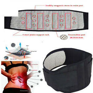 Magnetic Back Support -14 Pain Relief Magnets- Lower Lumbar Brace Belt Strap UK