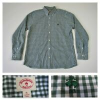 Brooks Brothers Red Fleece Mens Check Green Button Front Long Sleeve Shirt XL