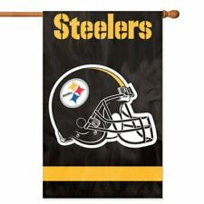 PITTSBURGH STEELERS House Banner Flag PREMIUM Outdoor DOUBLE SIDED Embroidered