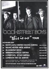 BACKSTREET BOYS 2009 Tour UK FLYER / mini Poster 8x6 inches