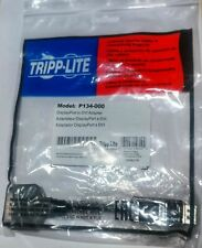 2 NEW Tripp Lite DisplayPort to DVI Cable Adapter, Converter DP to DVI-I