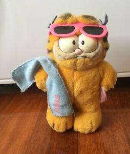 Garfield Hawaii plush 20cm original vintage toy 1981 rare collectible