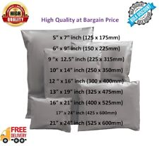 GREY MAILING BAGS POSTAGE POLY MAIL SELF SEAL POSTAL BAG  ALL SIZES WHOLESALE