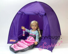"""Coleman Purple TENT for 18"""" American Girl Doll Quality Accessories Collection"""