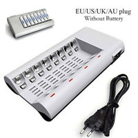 8 Slot Charging Dock Adapter For AA AAA NI-MH NI-CD Rechargeable Batteries