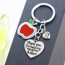 "Thank You Gift Apple Keyring ""Thank You For Helping Me Grow&Learn"" Key Ring"