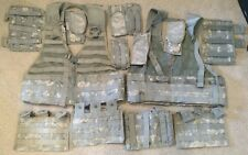 2 Molle II FLC ACU Fighting Load Carrier Vests Loaded with 12 magazine Pouches