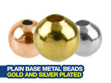Gold and Silver Plated Beads and Bead Caps for Jewellery Making