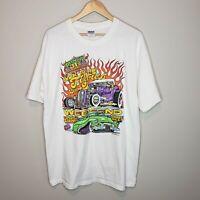 Car Show T-Shirt Rat Rod St. Paul Minnesota Street Rod Assn XL Back to the 50's