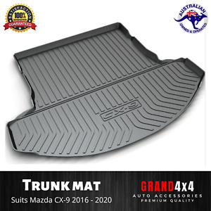 Heavy Duty Cargo Rubber Trunk Mat Boot Liner for Mazda CX-9 2016 - 2021 CX9