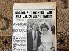 k1-4 ephemera 1966 wedding picture jane bond thomas horsefall broadstairs