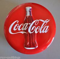 1994 VINTAGE Coca-Cola COKE RED ROUND Embossed Bottle Metal Tin Can COCA COLA