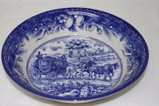 ROYAL STAFFORD CARRIAGE HORSE HARVEST SERVING BOWL(s) - BLUE/WHITE