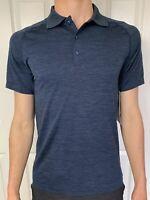 Lululemon Size S Metal Vent Tech Polo Blue MINB/NUNY Short Sleeve SS Year Button