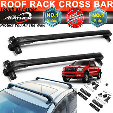 2xCar Top Crossbar Roof Rack For Ford F-150 F-250 F-350 SuperDuty Pickup Luggage