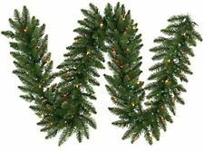 Vickerman 50' Camdon Fir Artificial Christmas Garland with 500 Multi-Colored ...