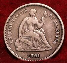 1861  Philadelphia Mint Silver Seated Half Dime