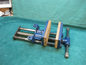 """COLUMBIAN 7"""" WOODWORKERS QUICK RELEASE UNDER BENCH VISE"""