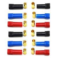 6Pair XT150 Connector Adapter Male Female Plug 6mm Gold Banana Bullet Plug