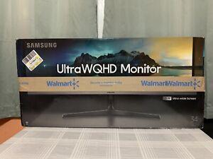 """Samsung 34"""" Class QHD UltraWide Monitor 4ms 75Hz 3440 X 1440 21:9 LS34J552WQNXZA"""
