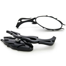 Flame Rear View Mirrors For Kawasaki VN Vulcan Classic MeanStreak Nomad 1600