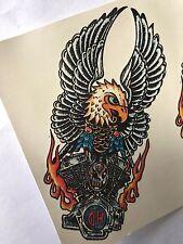 Águila Harley Davidson HD Tatuaje Temporal Body Art de transferencia de agua 2 por hoja V