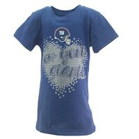 New York Giants Official NFL Apparel Kids Youth Girls Size T-Shirt New Tags