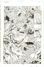 Wonder Woman #151 p.15 - Wonder Woman vs. Giant Spider 1999 art by Matthew Clark