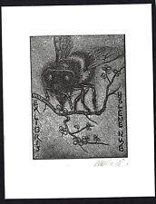 38)Nr.018- EXLIBRIS- Zd. Milach, Biene