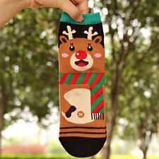 Hot Women/Girl Winter Socks Warm Soft Cotton Sock Cute Santa Claus Deer Xmas