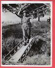 1941 British Soldier Carrying Small Stream Bridge Northern Ireland News Photo