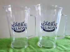 2 Admiral Nelson Spiced Rum 32oz Plastic Pitchers >Collector - HomeBar - ManCave