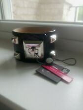 NWT Vince Camuto Black Leather Cuff Bracelet