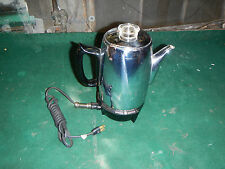 Vintage GE General Electric  Cup Percolator Coffee Maker Pot MCM Retro Camping