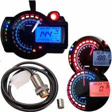 LCD Digital Tachometer Speedometer Odometer Motorcycle Motorbike 15000RPM New
