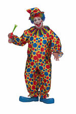 Adult Plus Size Clown Costume Multi Color Polka Dot Jumpsuit Unisex Size 2X