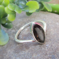 Natural Smoky Quartz Gemstone 925 Sterling Solid Silver Ring - ALL SIZES