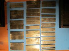 Lot Of 43 Machinist Thin Parallel Bars Blocks Bar Block Tool